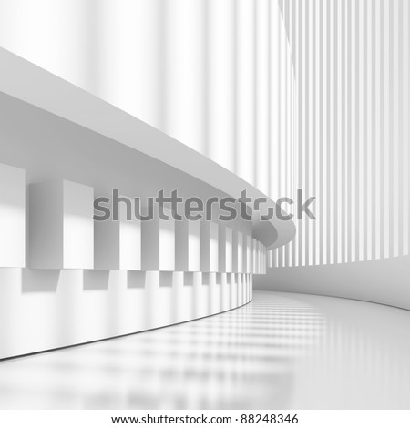 Futuristic Architectural Design - stock photo