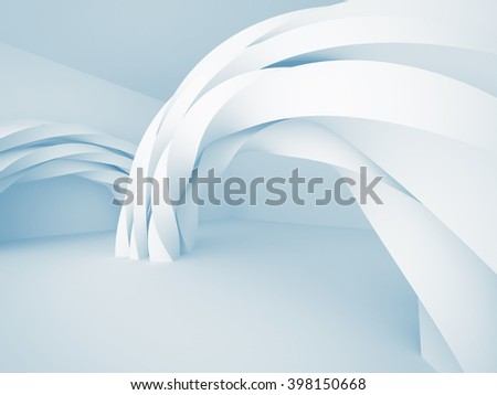 Futuristic Architecture Design 3d Background. 3d Render Illustration - stock photo