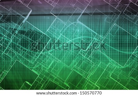 Futuristic Background as a Network Concept Art - stock photo