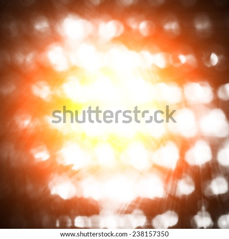 futuristic background with glowing dots - stock photo