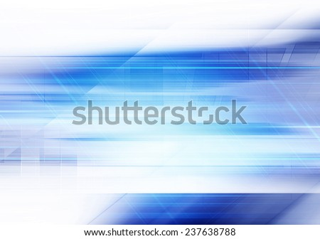 Futuristic Blue Background - stock photo