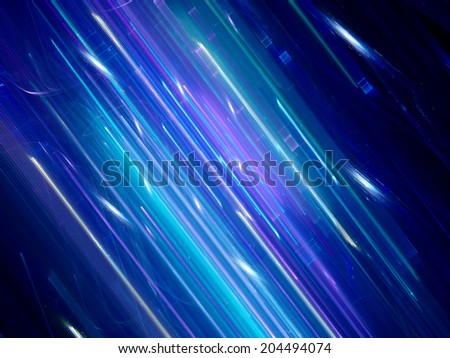 Futuristic blue neon background, computer generated fractal - stock photo