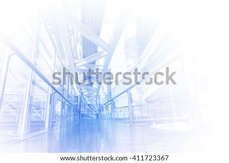 futuristic building passage, abstract image visual