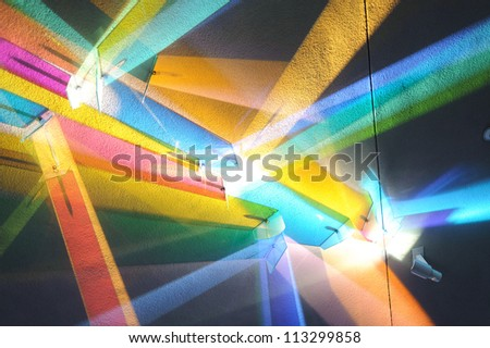 Futuristic colorful background with abstraction - stock photo
