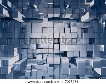 futuristic composition - abstract artistic background - stock photo