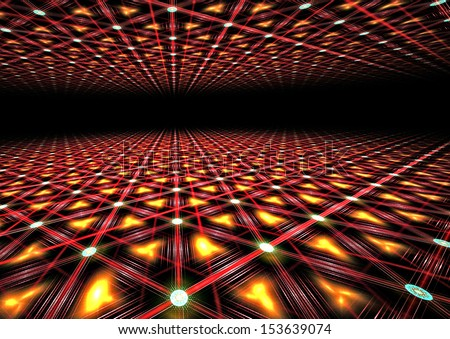 futuristic 3d perspective grid background texture  - stock photo