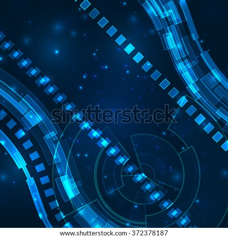 Futuristic digital background with space for your text. Technology illustration for your business,science,technology artwork.