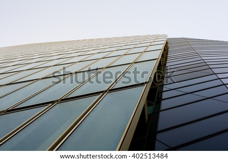 Futuristic Glass Facade - stock photo