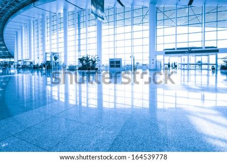 Futuristic guangzhou Airport interior - stock photo