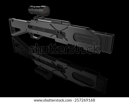 futuristic gun - stock photo