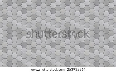 Futuristic Hexagonal Aluminum Tiled Seamless Texture - stock photo