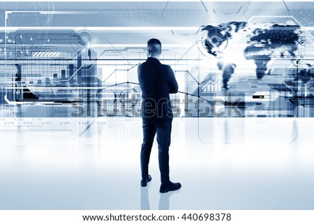Futuristic interface - stock photo