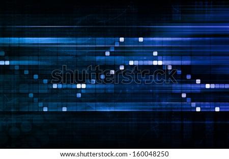 Futuristic Interface Business Graph and Chart Art - stock photo