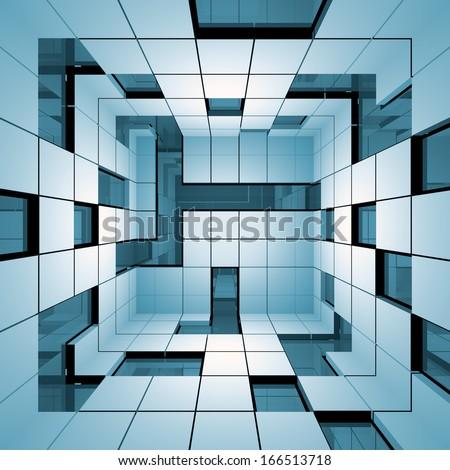 Futuristic interior.  - stock photo
