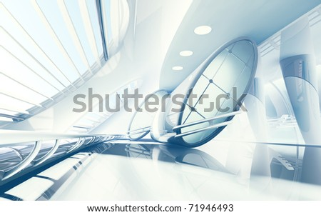 Futuristic Interior - stock photo