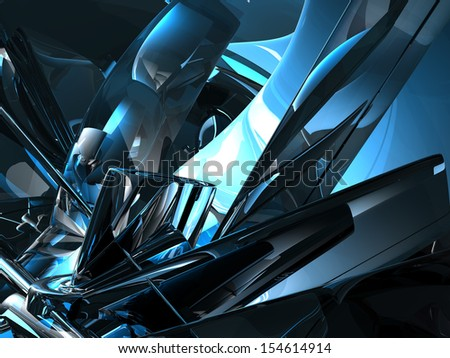 futuristic metal background - 3d illustration
