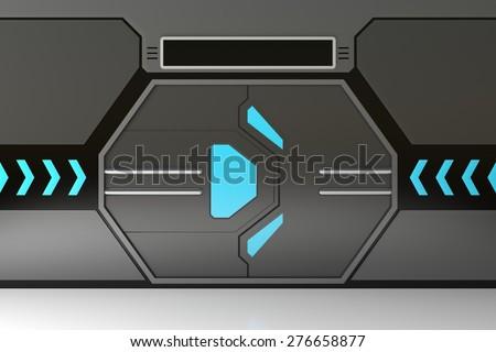 Futuristic metallic door or gate with blue lights & Futuristic Door Stock Images Royalty-Free Images u0026 Vectors ... pezcame.com