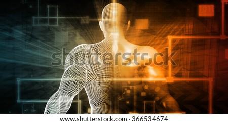 Futuristic Science as a Digital Background Art - stock photo