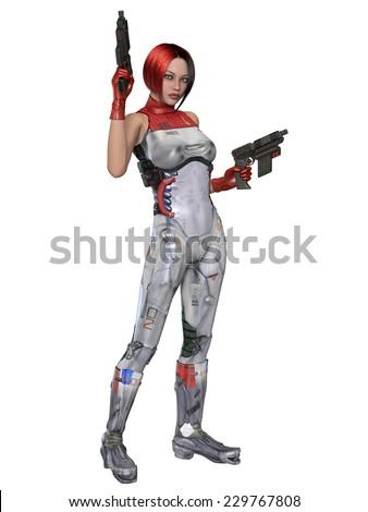 Futuristic sexy uniform - stock photo