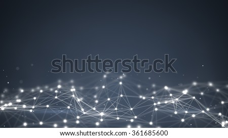 futuristic shape. Computer generated abstract background  - stock photo