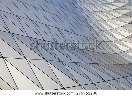 Futuristic Steel Facade - stock photo