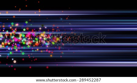 futuristic stripe background design with lights and bubbles