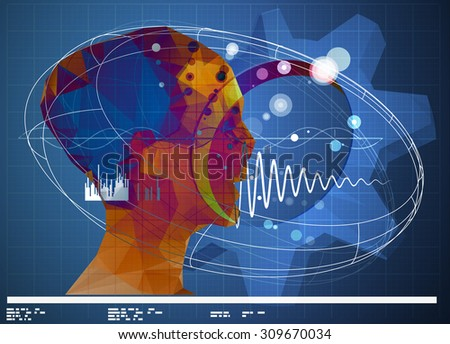 Futuristic Technical Planning Abstract - Stock Image - stock photo