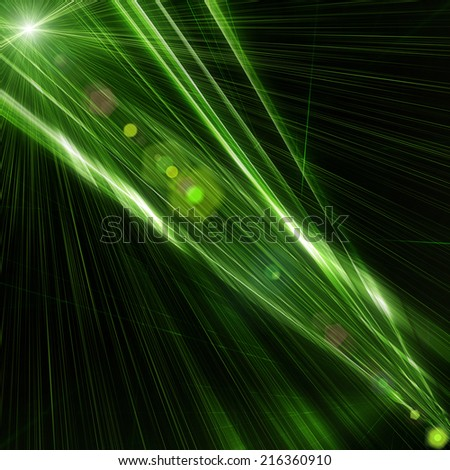 futuristic technology background illustration with lights - stock photo