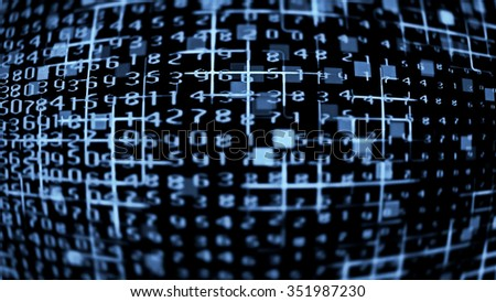 Futuristic technology screen 10586 from a series of abstract future tech imagery. - stock photo