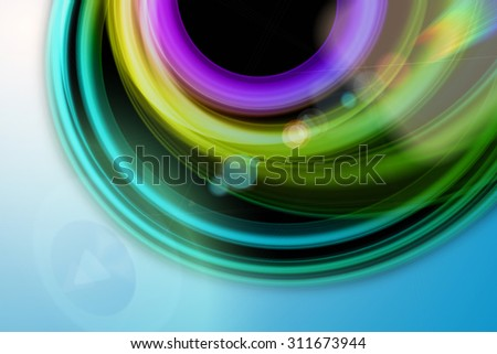 futuristic technology wave background design with lights - stock photo