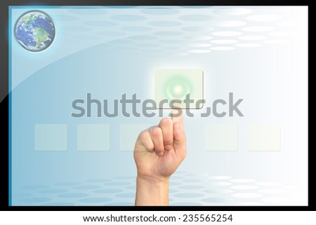 Futuristic touch screen/Touch screen technology/Abstract media  - stock photo