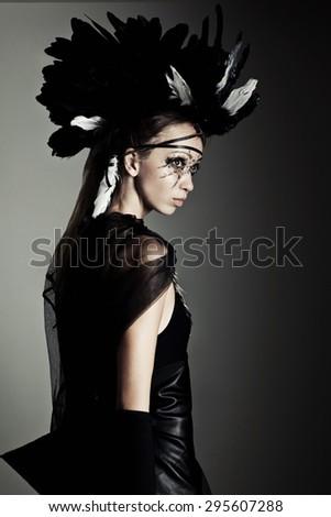 Futuristic tribal style - stock photo