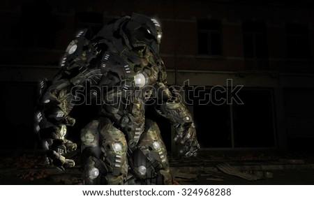Futuristic war machine - stock photo