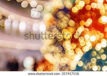 fuzzy abstract christmas beautiful Light spot background - stock photo