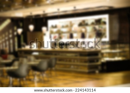 fuzzy photo of bar  - stock photo