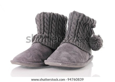 Fuzzy Shoes - stock photo