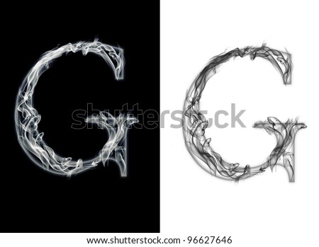 G letter from smoke - stock photo