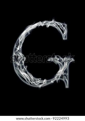 G Letter of smoke alphabet - stock photo