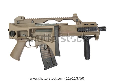 G36 rifle isolated on a white background - stock photo