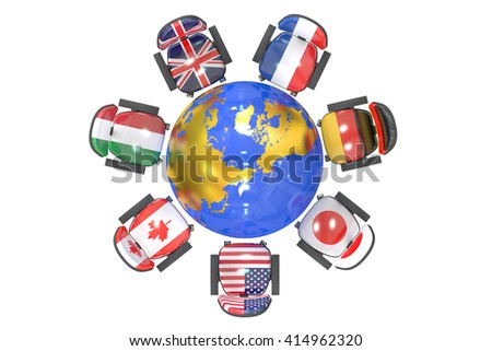G7 Summit Group of 7 concept, 3D rendering - stock photo