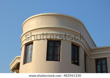 Gable of modern house