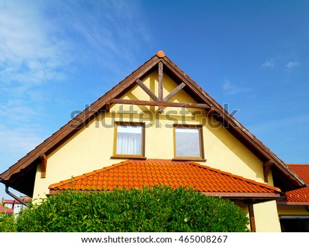 Gable roof residential house in Poland. & Gable Roof Stock Images Royalty-Free Images u0026 Vectors | Shutterstock memphite.com