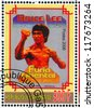 GABON - CIRCA 2006: stamp printed by Gabon, shows Poster Bruce Lee, circa 2006 - stock photo