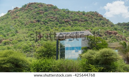 Gaborone - Nov 12: One of the many modern buildings of Gaborone, one of the fastest growing cities in the world built over a span of a few years. Nov 12, 2014 in Gaborone, Botswana - stock photo