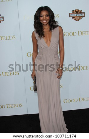 "Gabrielle Union at ""Tyler Perry's Good Deeds"" Los Angeles Premiere,  Regal Cinemas, Los Angeles, CA 02-14-12"