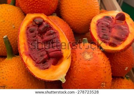 Gac Fruit (Momordica cochinchinensis) - stock photo