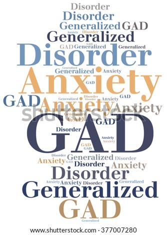 GAD - Generalized Anxiety Disorder. Disease abbreviation. - stock photo