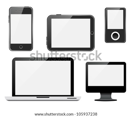 Gadgets. Raster version, vector file ID: 104839727 - stock photo