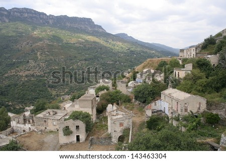Gairo Vecchio, Sardinia, Italy - desereted village devasted by a flood