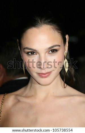 Gal Gadot at the Los Angeles Premiere of 'Fast and Furious'. Gibson Amphitheatre, Universal City, CA. 03-12-09 - stock photo